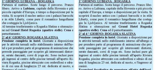 Vacanze in Slovenia agosto e settembre