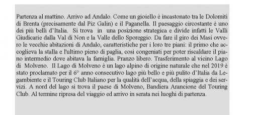 ANDALO E LAGO DI MOLVENO 16 agosto